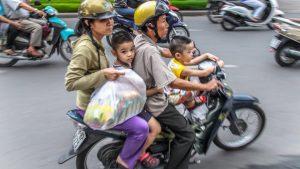 Vietnamese Family Motorbike No Helmets