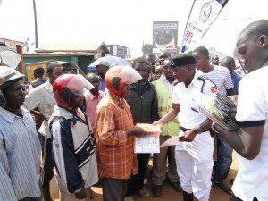"UHVI established ""Helmet Safety Checkpoints"" in Kampala"