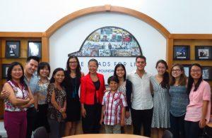 Dr. Bella Dinh-Zarr visits AIP Foundation July 2017