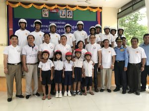 Head Safe Helmet On. Pchum Ben Festival YARS September 2017 Australian Aid