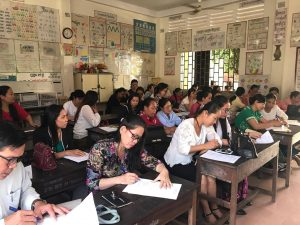 Manulife Helmets for Families program, 43 teachers at Vealvong Primary School October 2017