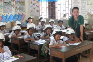 Helmets for Families expands to Kampong Cham Manulife Cambodia November 2017
