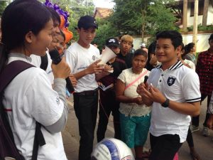 Student ambassadors cambodian water festival November 2017