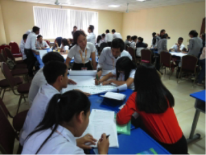 120 university students from across four universities in Phnom Penh were trained as road safety ambassadors.