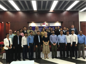 Stakeholders gather to develop a strategy to address transportation safety issues affecting factory workers in Cambodia.