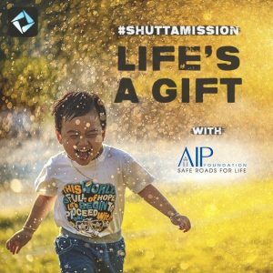 "AIP Foundation partnered with Shutta to launch the ""Life's a Gift"" campaign."