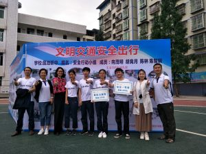 Student from Shengdeng and Kunchi Middle Schools that participated in the Photovoice project carried out by our Walk Wise program.