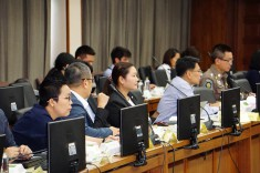 Members of the Thai Ministry of Transport's task force gather for the second meeting on motorcycle-related crashes.