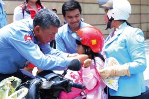 Cambodia Police Helmets