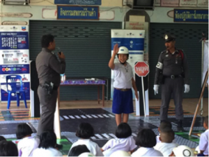 Singhanakhon Police lead after school programs on road safety for Street Wise July 2017