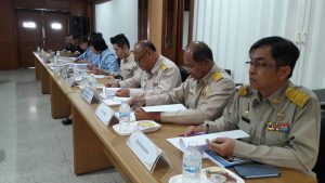 The Yan Nawa District's Road Safety Operation Center Committee holds their first meeting in 2018.
